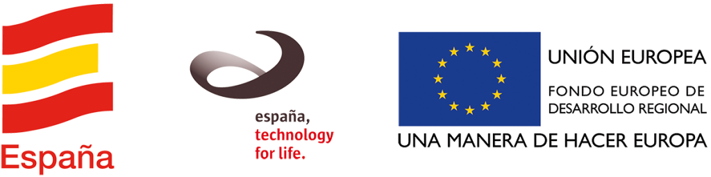 Espana, Espana technology for life logos, Union Europea logos