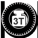 Pictogramme compacteur à pneus 3 tonnes par roue